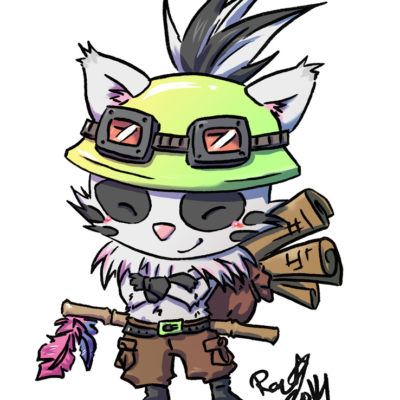 Fanart League of Legends Badger Teemo - Racuun