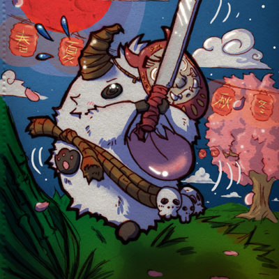 FanArt League of Legends - BloodMoon Poro - Racuun