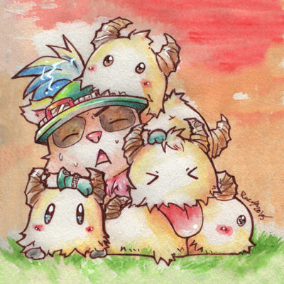 FanArt League of Legends - Teemo Poro Invasion - Racuun