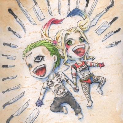 FanArt Suicide Squad - Joker und Harley Chibis - Racuun