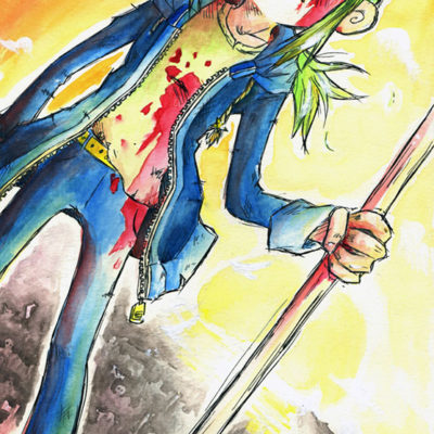 Mangazeichnung OC Yuji aus Shadows of CED - Racuun
