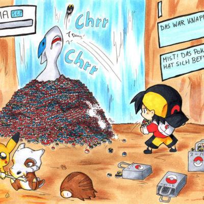 FanArt Pokémon Catch a Lugia - Racuun
