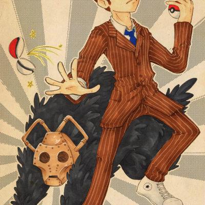 Fanart DrWho Ten Pokémon Trainer - Racuun