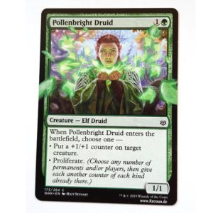 MTG Magic altered Art von Racuun - Pollenbright Druid