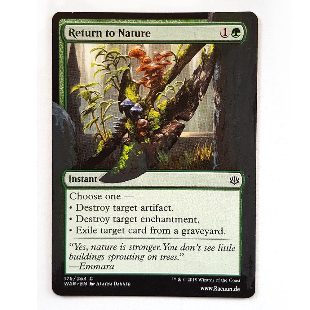 MTG Magic altered Art von Racuun - Return to Nature