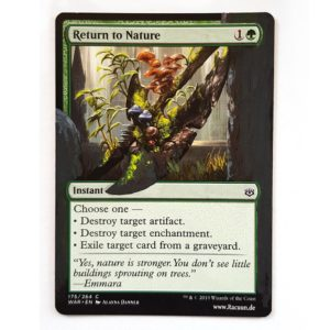 MTG Magic altered Art von Racuun - Return to Nature