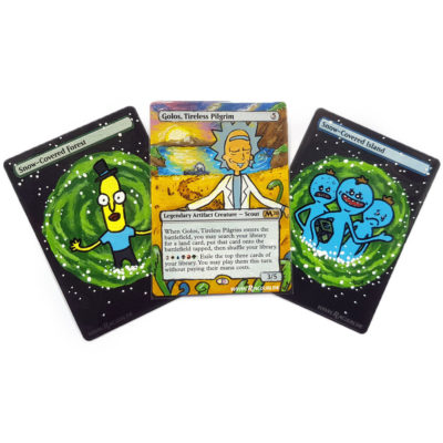 MTG Magic altered Art von Racuun - Rick & Morty