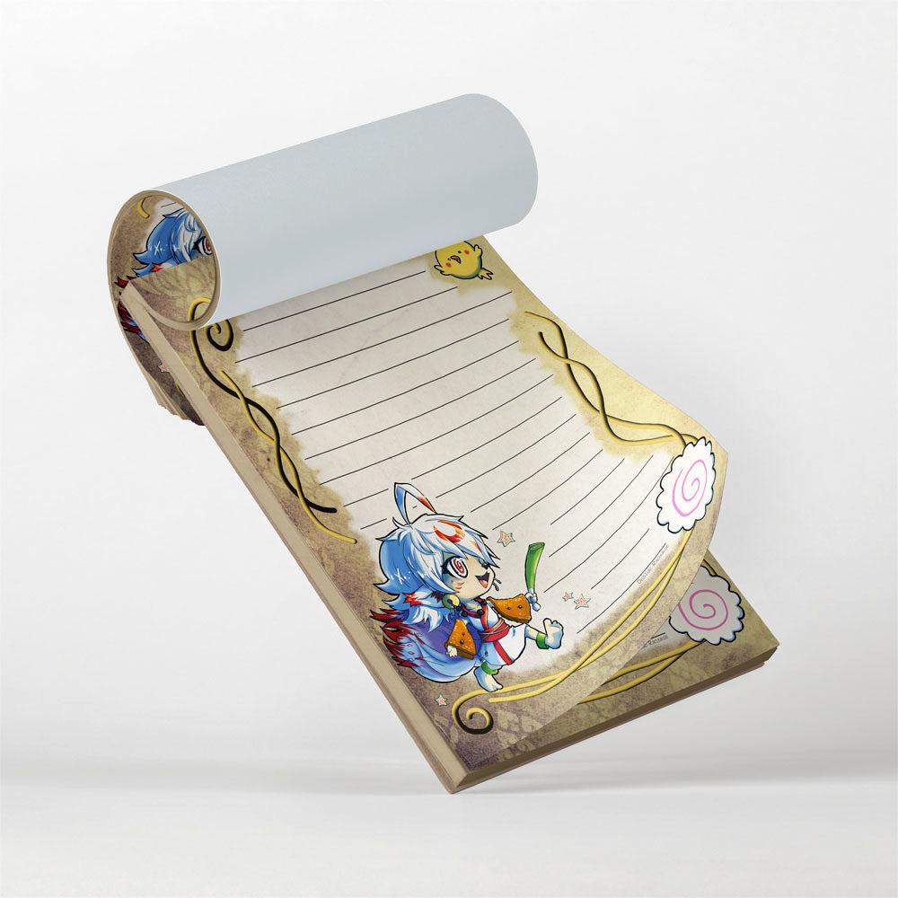Notizblock Kitsune Udon Design von Racuun